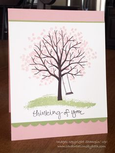 Stampin Up Sheltering Tree, Thinking of You, Handmade Card