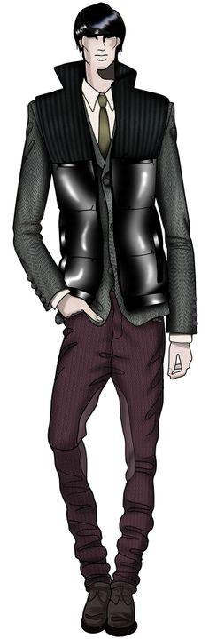 London, December. Jaa design original fashion illustration. http://croquisdemodes.tumblr.com/