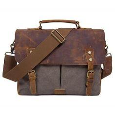 Messenger Bag, Canvas and Leather Mens Leather Laptop Bag, Leather Briefcase, Leather Shoulder Bag, Leather Men, Shoulder Strap, Canvas Messenger Bag, Laptop Messenger Bags, Backpack Bags, Laptop Bags