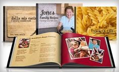 Custom Cookbook. A use of those make-your-own books I hadn't thought of. Wonderful idea!