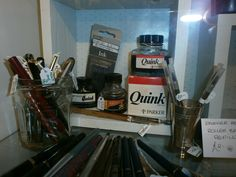 vintage pens and ink bottles.go on write a proper letter and post it.so much better than an email.