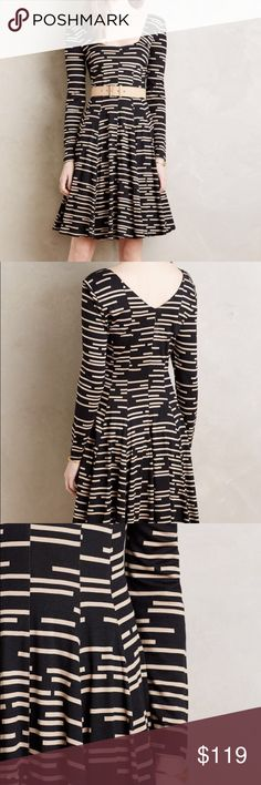 NWT anthropologie Saraid dress This might be the perfect 3 season dress! Made from comfy jersey material, this dress feels like pjs but looks like a million bucks!  Belt NOT included, Anthropologie Dresses Long Sleeve