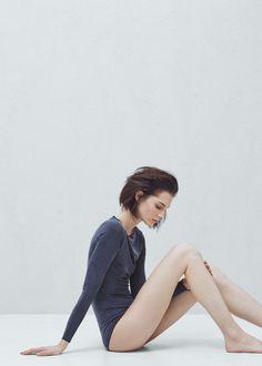 Premium - cupro bodysuit - T-shirts for Women | MANGO USA