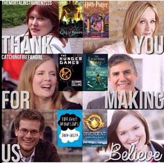 Thank you for making us believe