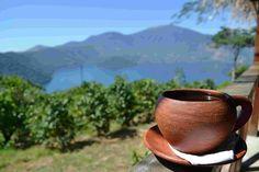 Un rico cafecito desde el mirador de el Lago Coatepeque, #ElSalvador.