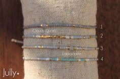 Bracelets Délicats coulissants à superposer par JullyJewelry