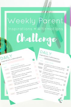This is the daily inspirations freebie for parents. It isfor parents to guide their children with both their actions and words. In time with consistencyusing this resource, you will set a good example for your kids and making them feeling inspired.Some of these exercises are meant to be done in tandem with your child, while others are more personal, and address adult needs.