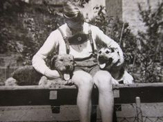 Orig Privat Foto RAR Sammlung 4x Liebe zwischen Mensch & Tier ; glücklicher…