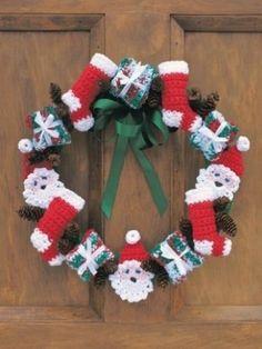 modello di Natale ghirlanda crochet 4 ply 99p
