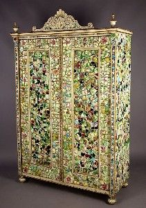 Tiles Mosaic Armoire c. 1910 - @Mlle  Oh Puhleeze get me this, honey!