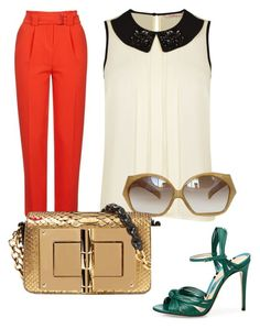 """""""Untitled##12"""" by almamehmedovic-79 ❤ liked on Polyvore featuring Topshop, Darling, Tom Ford and Gucci"""