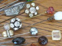 Vintage Hatpins. A forgotten accessory.