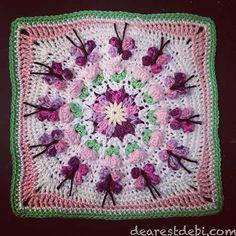 Crochet Butterfly Garden Afghan BlockI\\\'ve done it again, the Crochet Butterfly Garden Afghan Block is my 2nd 12\\