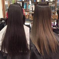 Luscious Balayage With Subtle Purple Tones - 20 Stunning Examples of Mushroom Brown Hair Color - The Trending Hairstyle Brown Ombre Hair, Brown Hair Balayage, Ombre Hair Color, Hair Color Balayage, Hair Highlights, Ombre Balayage, Light Brown Hair, Hair Shades, Hair Transformation