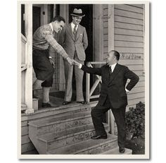 Stan Laurel, Hal Roach and Fred Karno