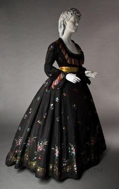 dinner dress, 1860s