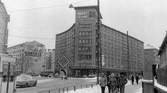Seinämainos Sörnäisten Kurvissa Helsingissä talvella vuonna 1977.  kuva: Erkki Suonio / Yle