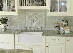Simple and Crazy Ideas: Unique Subway Tile Backsplash reclaimed beadboard backsplash.Herringbone Backsplash Peel And Stick beadboard backsplash spaces. Herringbone Subway Tile, White Subway Tile Backsplash, Beadboard Backsplash, Travertine Backsplash, Subway Tiles, Herringbone Pattern, Mosaic Backsplash, Kitchen Sink Decor, Kitchen Backsplash