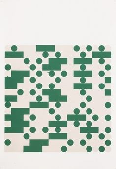Tauba Auerbach, Morse Alphabet, With Spaces, Creme, Green, 2006 in Everything
