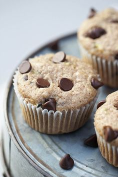 Chocolate chip zucchini muffins ...seriously the BEST! Super easy to make to!