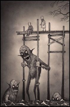 John Kenn - Post-it Illustration - Monsters