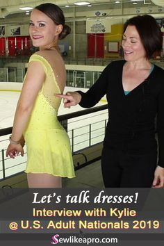 With a decade of competition skating experience, Kylie understands how important it is to have a feminine ice skating dress that goes with her routine. Ice Dance Dresses, Figure Skating Dresses, Synchronized Skating, Figure Skating Costumes, How To Make Skirt, Sewing School, Skate Wear, Rhinestone Dress, Ballroom Dress