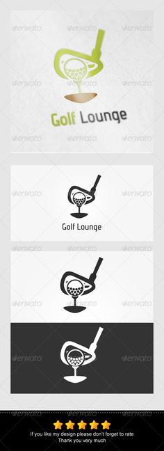 Golf Lounge Logo — Vector EPS #abstrack #sport • Available here → https://graphicriver.net/item/golf-lounge-logo/7805569?ref=pxcr
