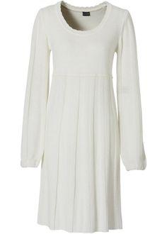 Вязаное платье, BODYFLIRT, цвет белой шерсти