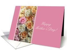 Happy Mother's Day pastel roses card