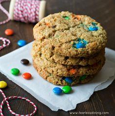 Gluten Free Monster M&M Cookies