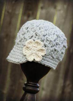 Crochet Baby Hat, kids hat, crochet newsboy hat, hat for girls, newborn hat #newsboyhatcrochet