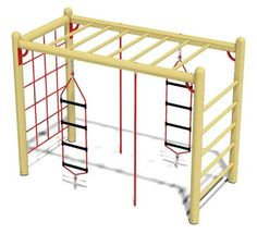 The climbing frame will fulfill all the demands made of it by the little climbers. Backyard Jungle Gym, Kids Backyard Playground, Backyard For Kids, Kids Indoor Gym, Swing Set Parts, Outdoor Play Spaces, Kids Play Area, Backyard Makeover, Parkour
