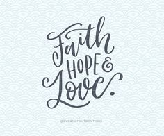 SVG Cuttable Vector  Faith Hope Love Simple  by SVGandFontBoutique