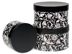 Black and white damask centerpieces or Party Favor Idea