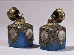 Pair of 19th Century French Opaline Ormolu Palais Royal Glass Perfume Bottles | eBay