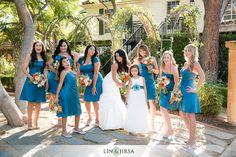 cute posing ideas and bridesmaids and flower girl dress ideas #bluewedding