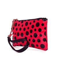 2014 Fashion Wholesale Shiny Polka Dot PU Women Clutch Bags Handbag Free Shipping
