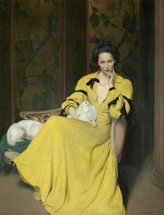 Herbert James Gunn Pauline in the yellow dress, 1944