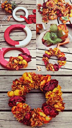 DIY Home Decor Craft Projects | Wreath project home decor autumn diy crafts wreath diy crafts home ...