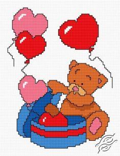 Teddy-Bear III - Free Cross Stitch Pattern