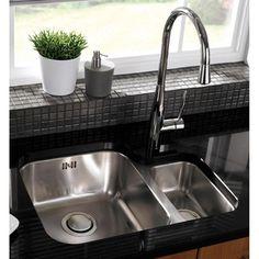 Astracast Edge D1 1.5 Bowl Stainless Steel Undermount Kitchen Sink RHSB
