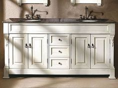 Superbe Bates Double Vanity (antique White)   Transitional   Bathroom Vanities And  Sink Consoles   By Thos. 72 Inch ...