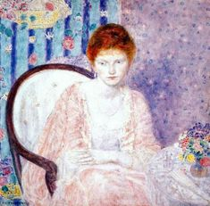 Frederick C. Frieseke - Lady in Rose