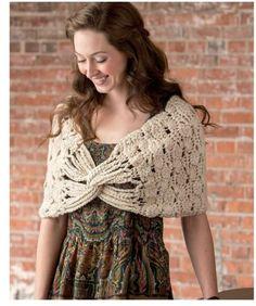 Capa Crochet Cruzada Patron - Patrones Crochet ♪ ♪ ... #inspiration_crochet #diy GB http://www.pinterest.com/gigibrazil/boards/