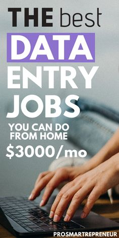 Data entry jobs are great for those who want to make easy money from home. To qualify, you just need a PC and good typing skills with great accuracy. If you're interested in a work from home data entry job you should check out the Work From Home Careers, Work From Home Companies, Legit Work From Home, Work From Home Opportunities, Work From Home Typing, Amazon Work From Home, Employment Opportunities, Business Opportunities, Ways To Earn Money