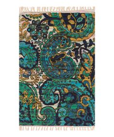 Look what I found on #zulily! Blue & Yellow Aria Rug by Loloi Rugs #zulilyfinds