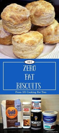 Tender and fluffy with really good taste in a non-guilty zero fat biscuit. Some recipes are for low-fat biscuits, but this one is zero-fat.