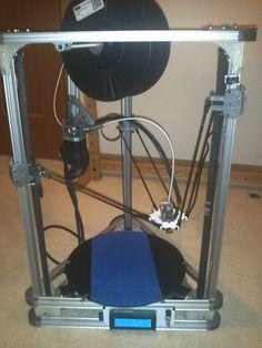 First Working Openbeam Delta 3D Printer