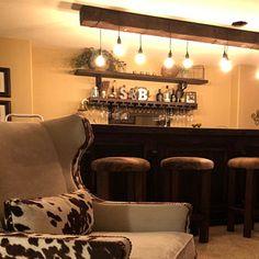 Home Bar Table - Live Edge Sofa Table (Behind Couch Table) Home Bar Table, High Top Table Kitchen, High Top Tables, Table Behind Couch, Couch Table, Wood Table, Patio Bar Set, Pub Table Sets, Rustic Wall Sconces