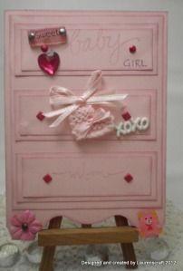 Dresser Card for baby girl